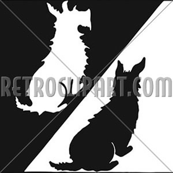 Black And White Scottie Dogs