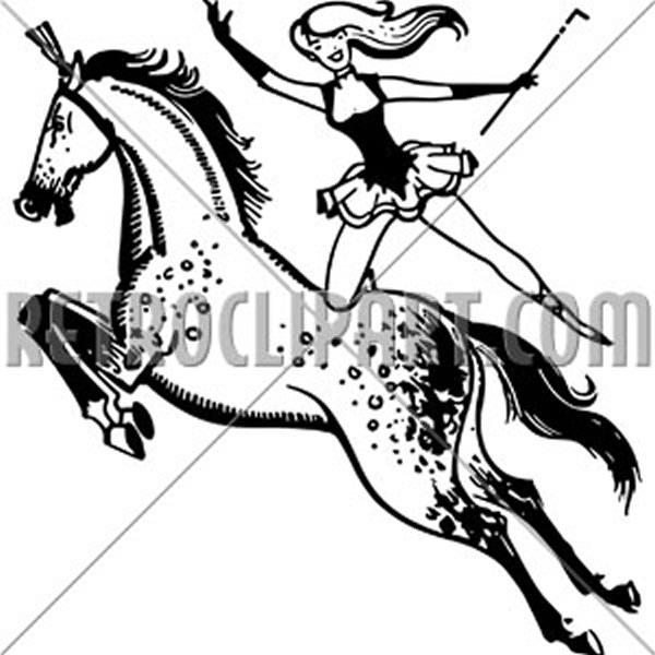 Circus Performer On Horse