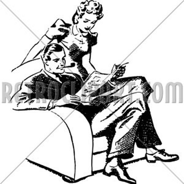 Couple Enjoying Magazine