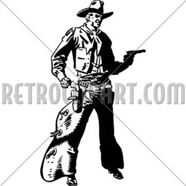 Cowboy Drawing Pistol