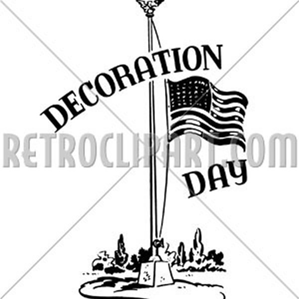 Decoration Day With Flag