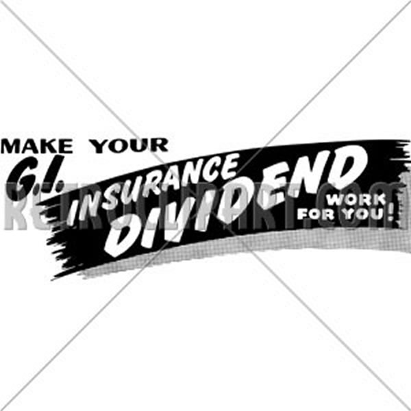 G.I. Insurance Dividend Ad