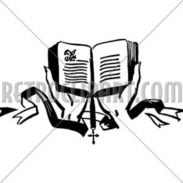 Hands Holding Open Bible