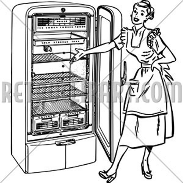 Lady With New Fridge