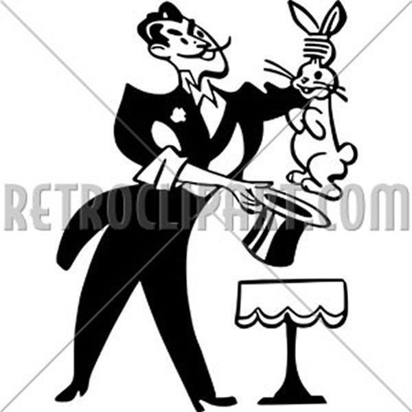 Magician Pulling Rabbit From Hat
