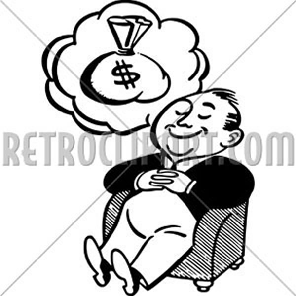 Man Dreaming Of Money