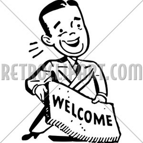 Man With Welcome Mat