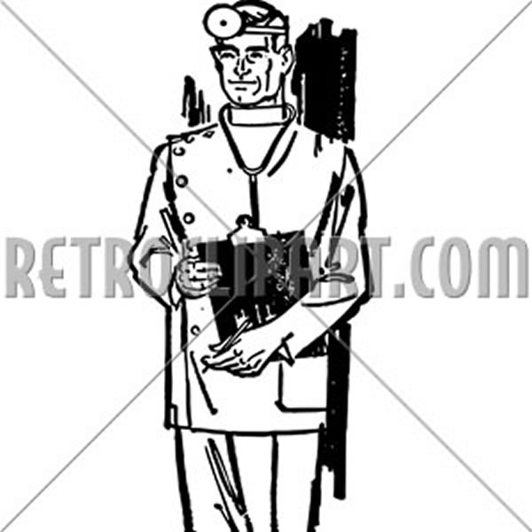 Medical Doctor With Chart