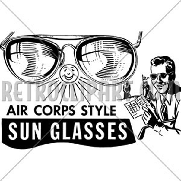 Mens Air Corps Sunglasses