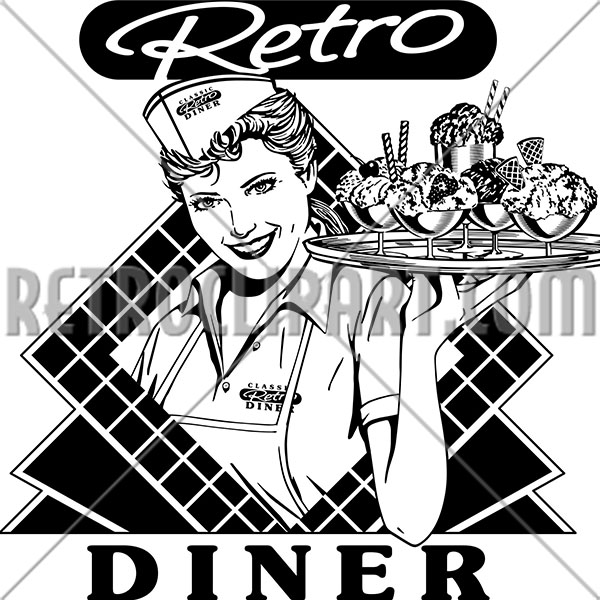 Retro Diner Waitress 2