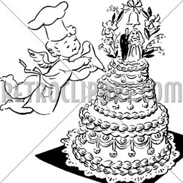 Wedding Cake And Cherub